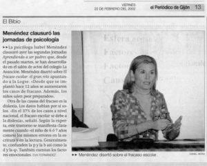 El periódico de Gijón Jornadas psicología